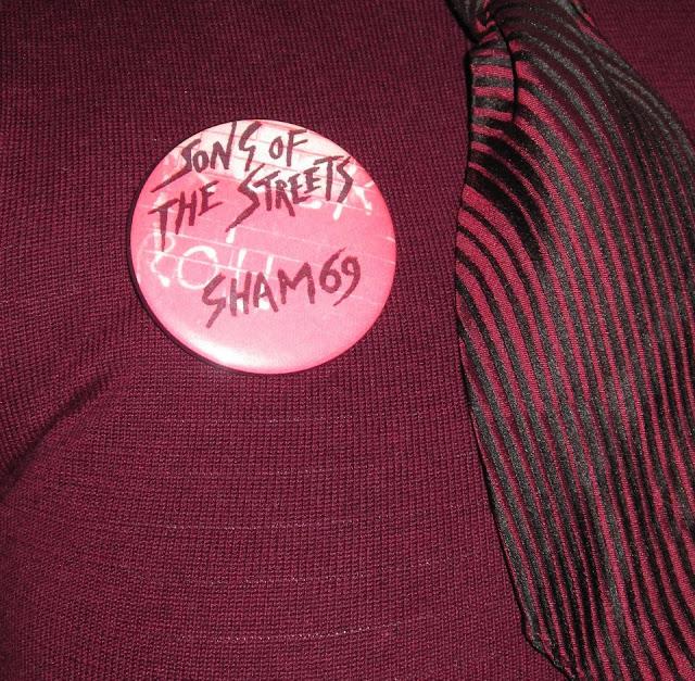 Sham 69 badge pinback button vintage jimmy pursey