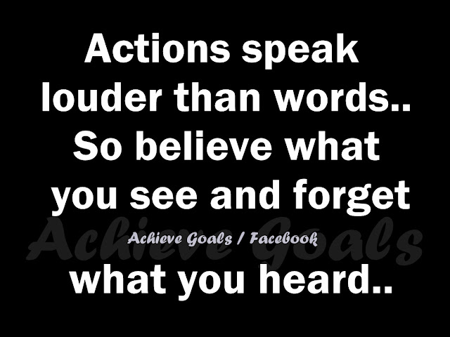 action speak louder than words Definition of actions speak louder than words - what someone actually does means more than what they say they will do.