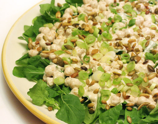 sauce salad with cumin and lime vinaigrette chickpea and spinach salad ...