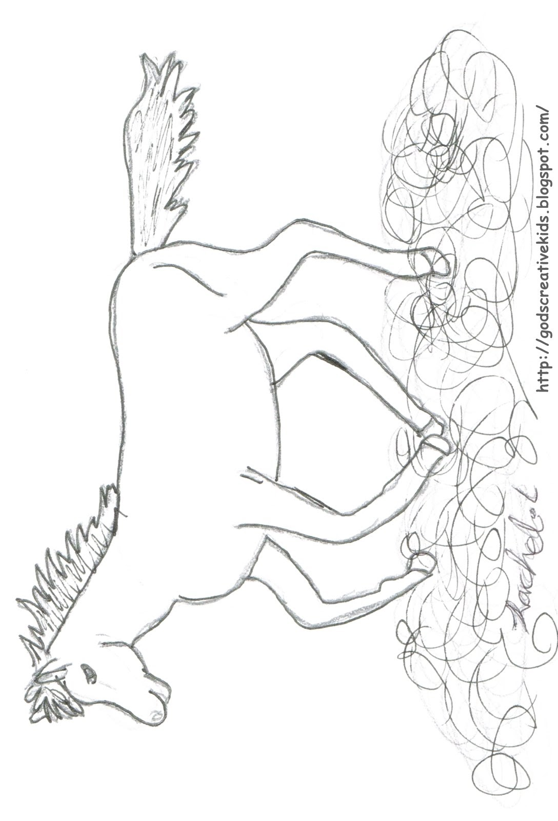 coloring pages horses running-#38