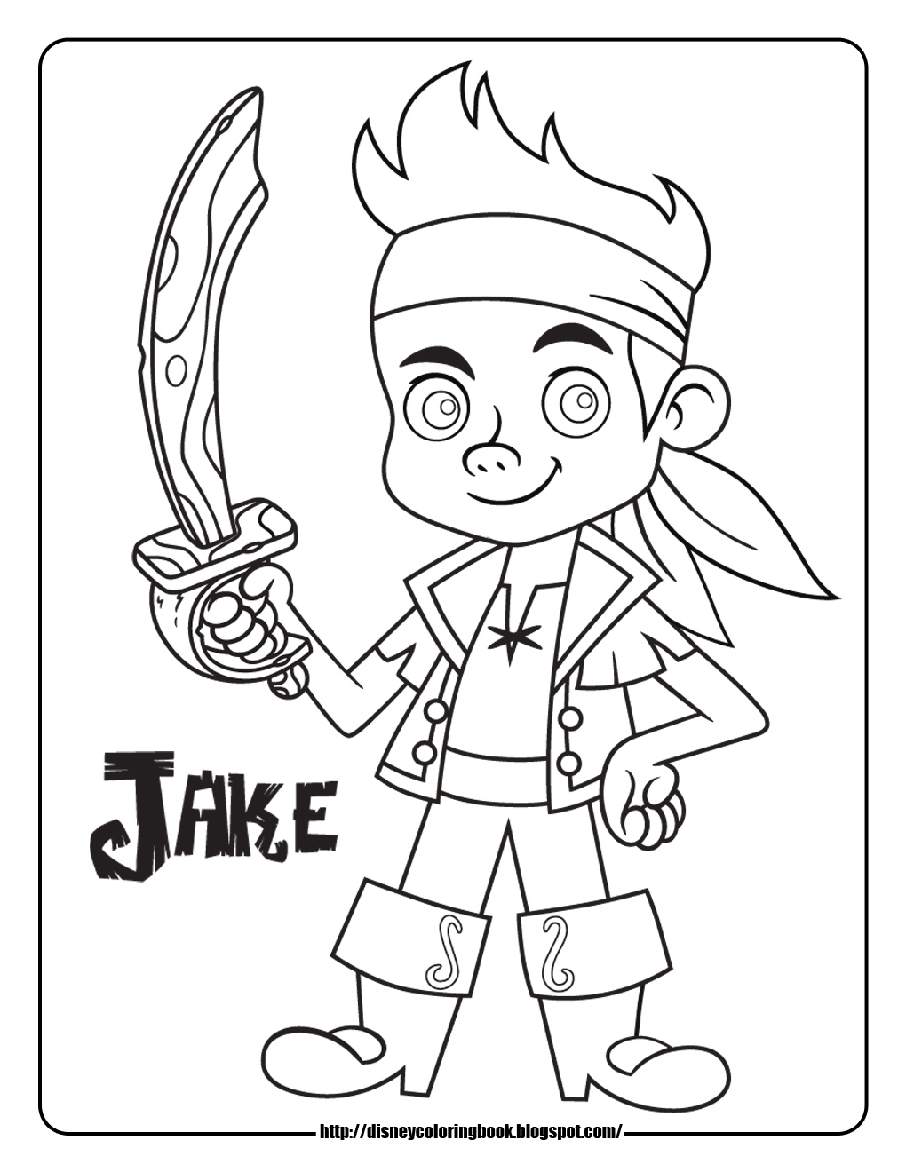 Disney Junior Coloring Pages Jake : Jake and the neverland pirates free disney coloring