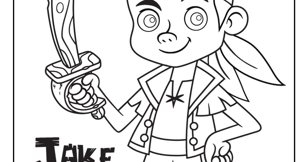Disney Coloring Pages Jake And The Neverland Pirates : Disney coloring pages and sheets for kids jake the