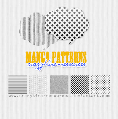 manga patterns photoshop