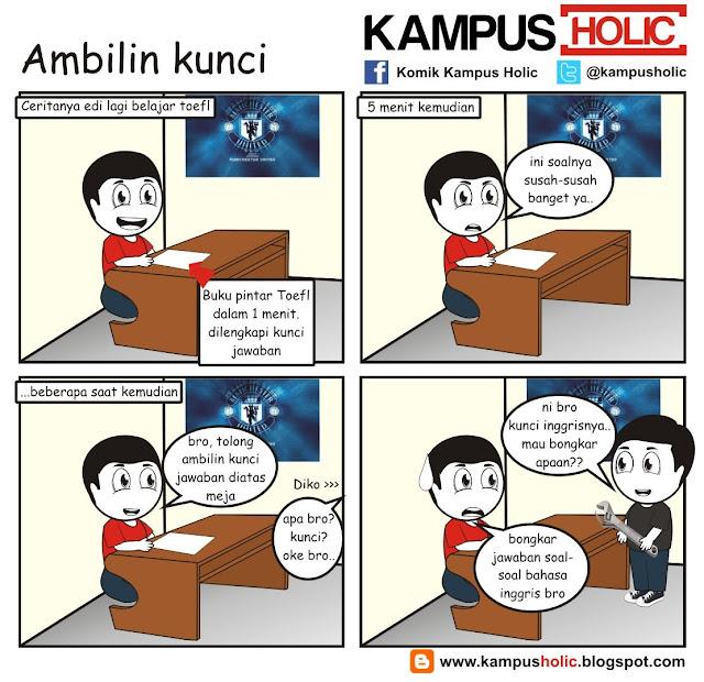 #201 Ambilin kunci, tes toefl komik kampus holic