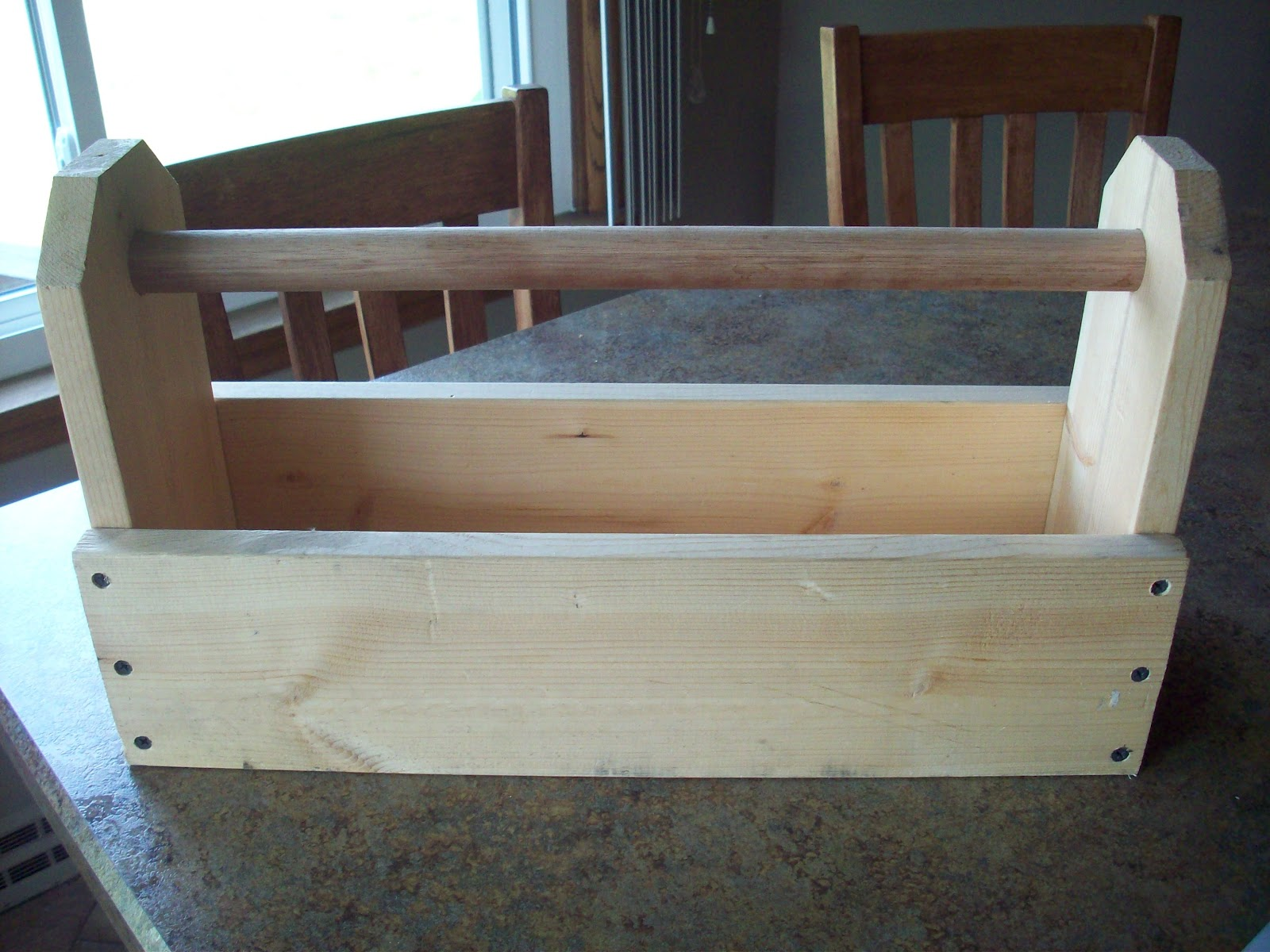 Unfinished Wood Tool Caddy