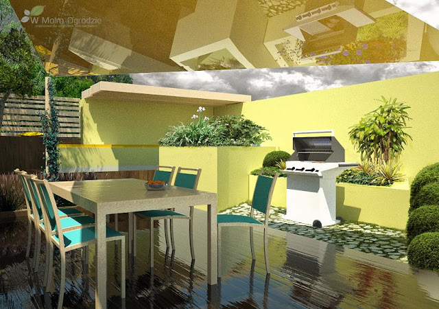 nowoczesny ogródek, projektant ogrodów