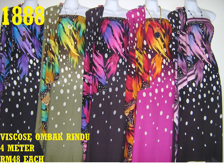 VOR 1888: VISCOSE OMBAK RINDU, 4 METER, 5 COLORS