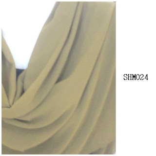 shawl halfmoon plain green olive