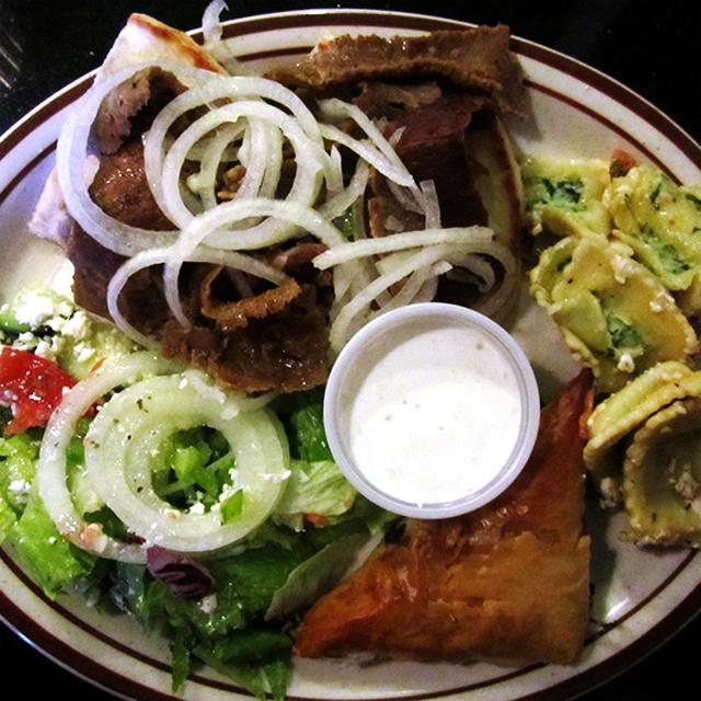Mad Greek Buffet Plate