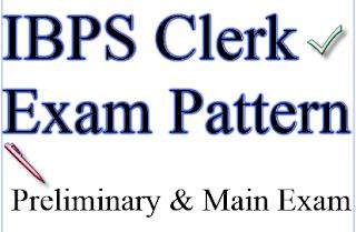 IBPS Clerk Exam Pattern /Syllabus for Preliminary & main Exam 2015