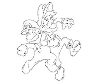 #3 Luigi Coloring Page