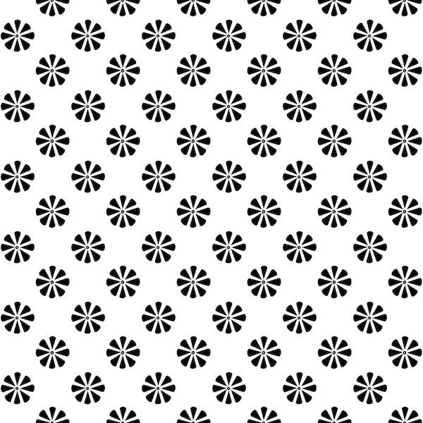 Free digital black and white floral scrapbooking paper - ausdruckbares ...