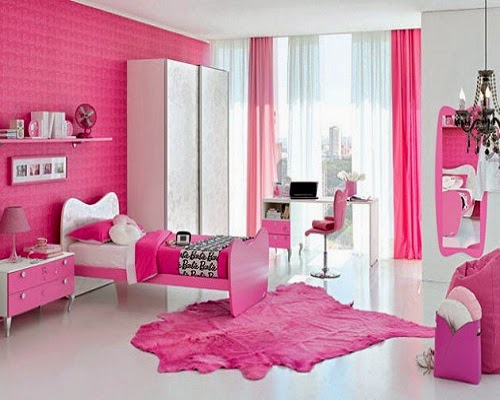 chambre enfants en rose