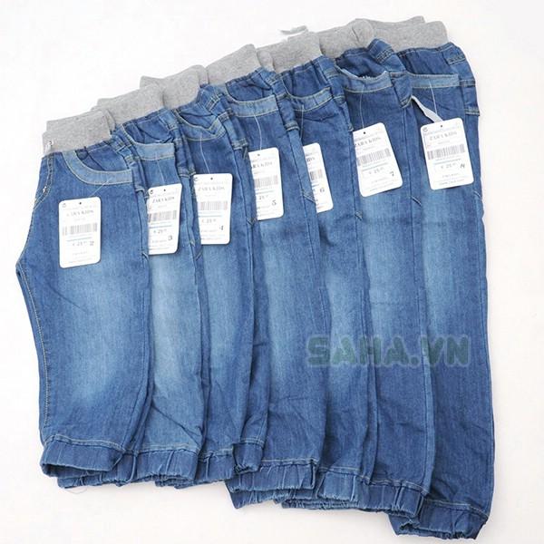 Quần jeans bo lai cho bé trai - 2932