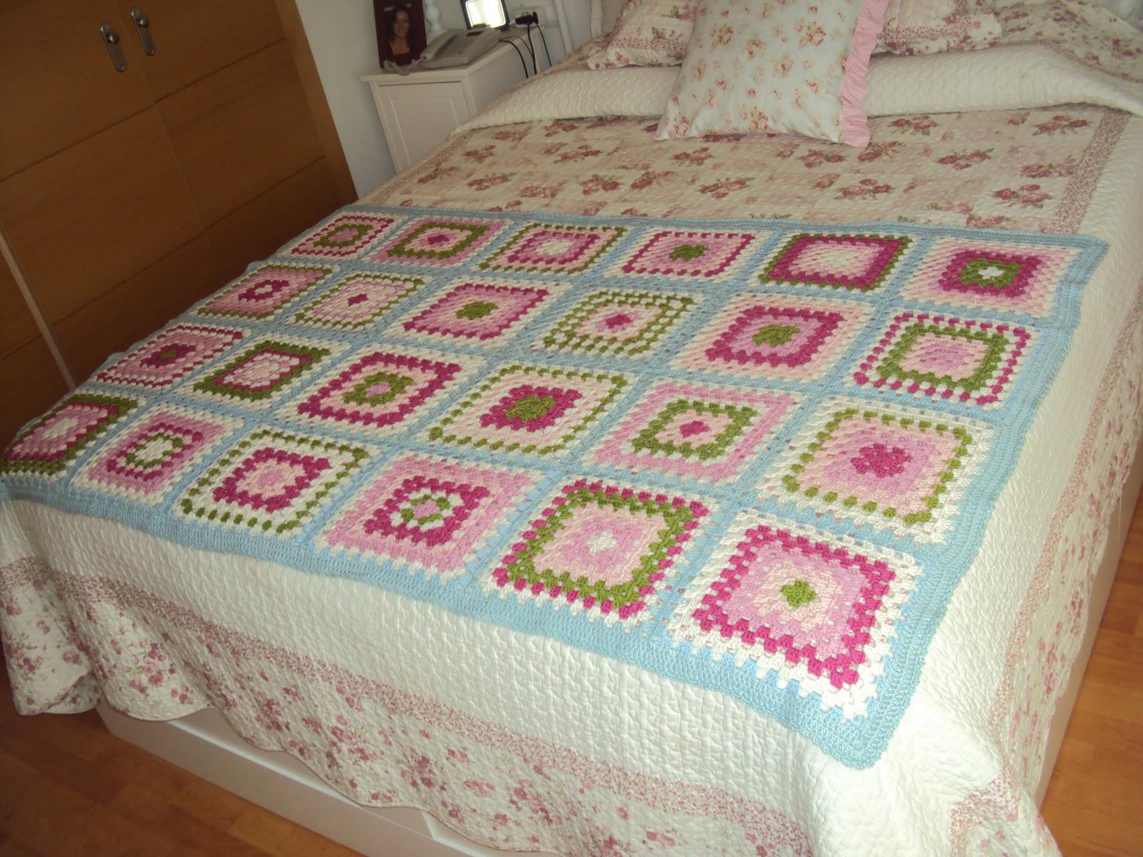 TERMINADOS    Colcha Crochet  Renato Parol  N  Tapete Y Coj  N