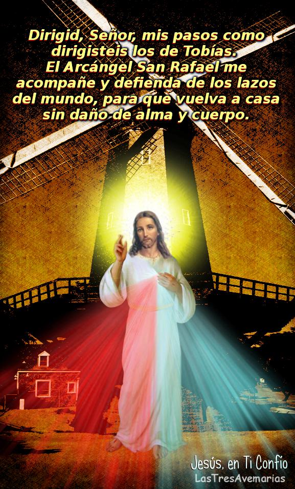 fotografia de la divina misericordia con oracion a san rafael