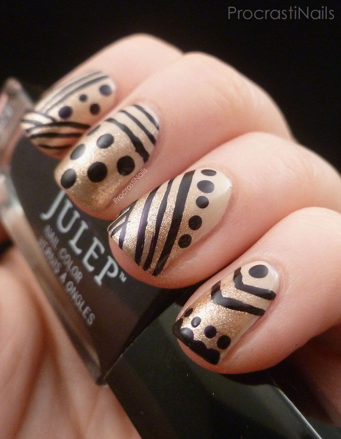 Dots and Stripes! Review and Nail Art with the Julep Plié Wand ...