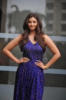 Actress Daisy Shah Pictures in Long Floral Dress at Lakme Fashion Week Winter Festive 2014  20