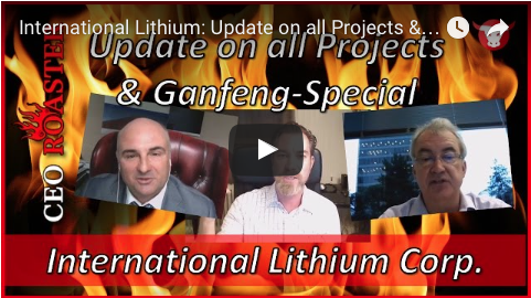 International Lithium Video Update On All Projects And Ganfeng Special.