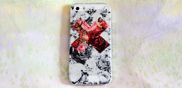 One of the cases that I got from Clash Cases on Etsy was their contrast floral X case, with a black-and-white background and bold, vibrant center.