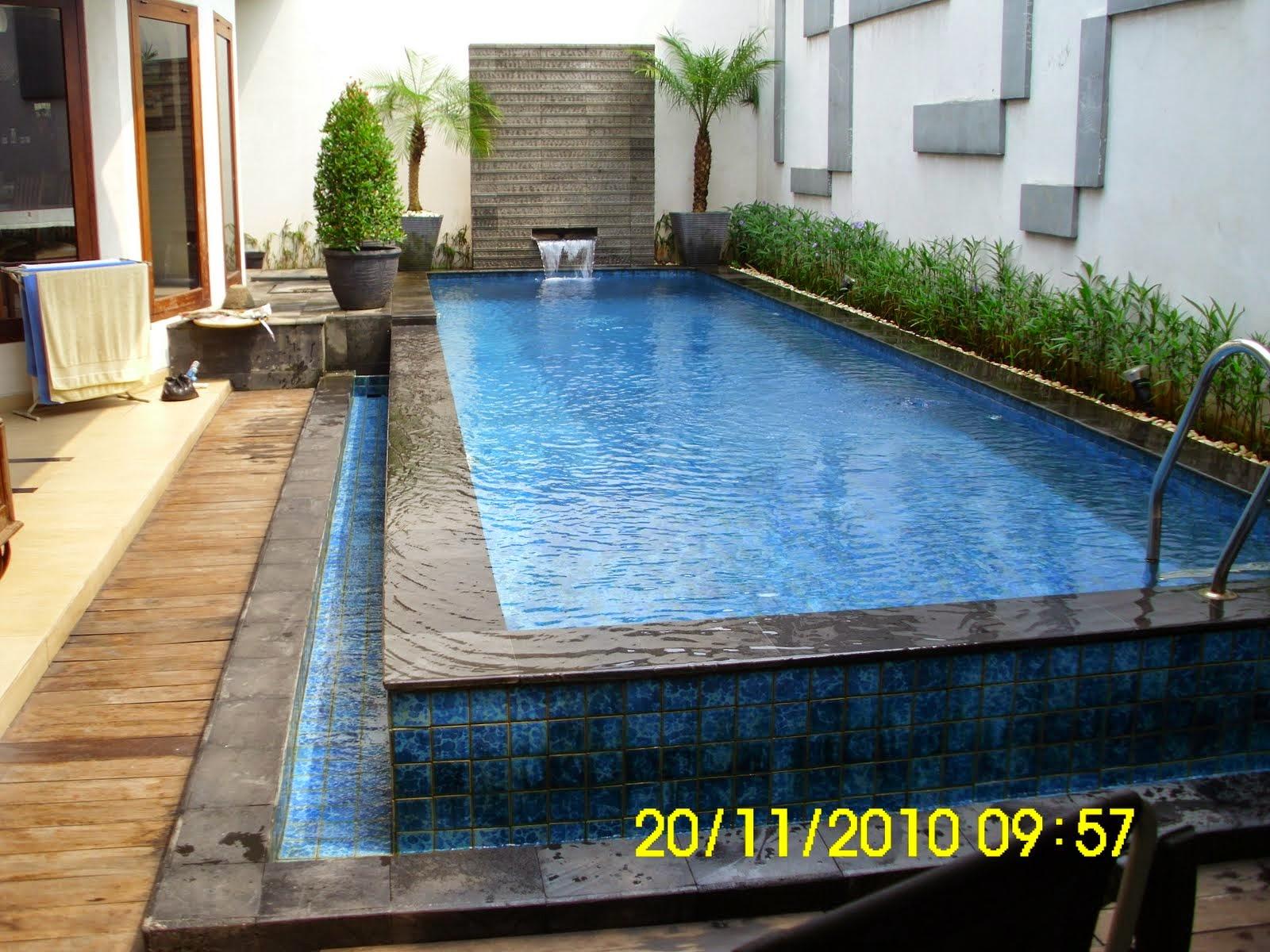 desain kolam renang kecil desain properti indonesia