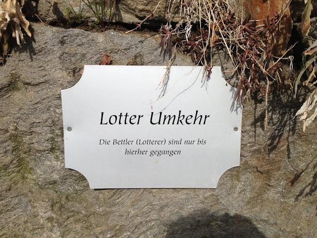 Lotter Umkehr - Ich verstehe das Schild nicht
