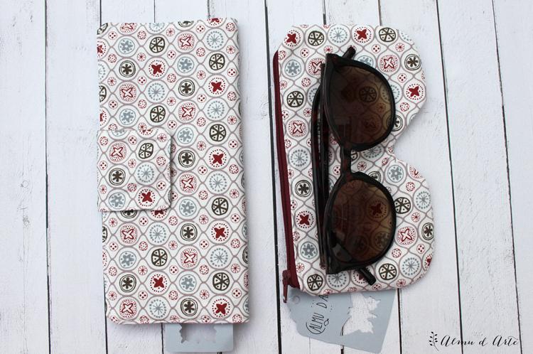 Billetera y funda de gafas artesanal