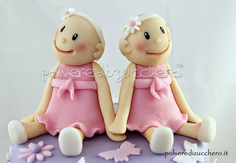 torta decorata battesimo gemelle pasta di zucchero vendita como varese saronno chiasso lugano