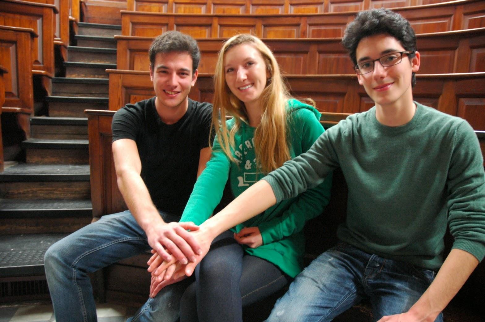 I 3 studenti piemontesi finalisti delle Olimpiadi delle Neuroscienze: Carlo Prosperini, Elena Savoini, Luca Inguaggiato
