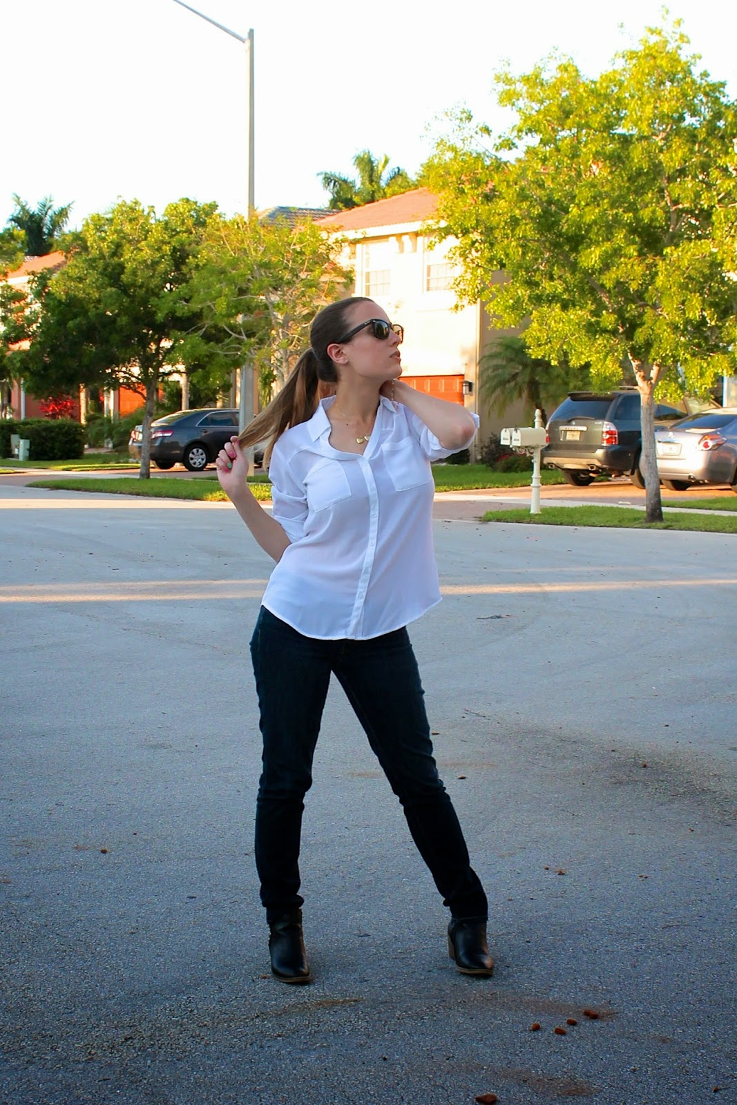 ootd, style, fashion, Miami, classic, tailored, what i wore, Nigeria, Bring Back Our Girls, Express, Levi's, Ray-Ban, Target