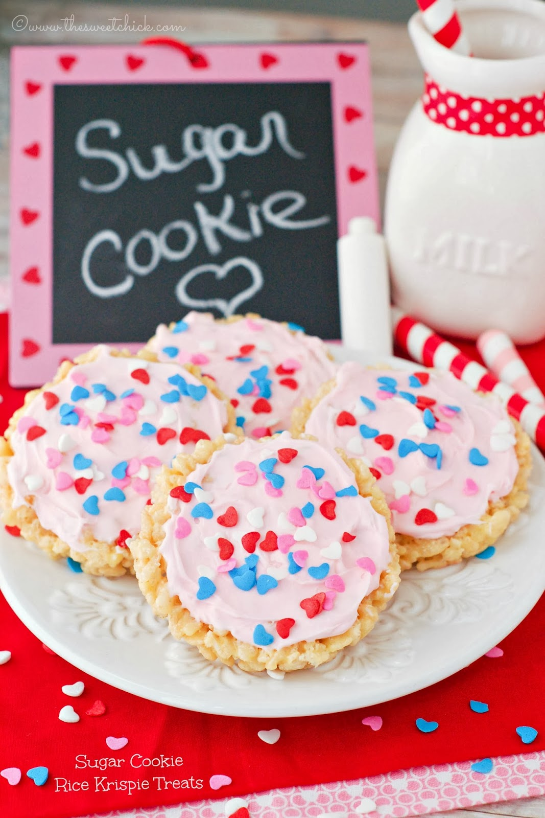Sugar Cookie Rice Krispie Treats by The Sweet Chick