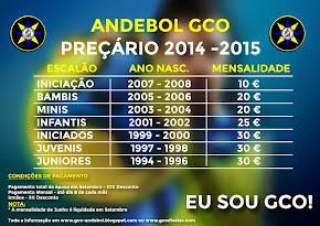 MENSALIDADES 2014-2015