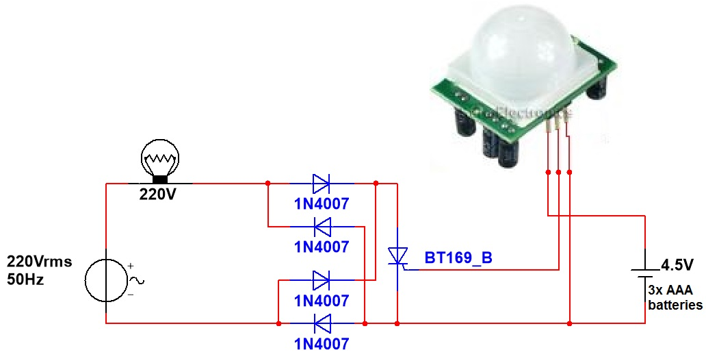 microcontroller home projects hc sr501 without power supply