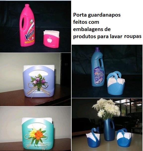 Portarevistas y portapapeles reciclados de envases de productos para lavar la ropa