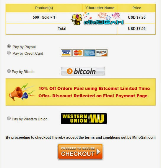 payment methods at mmogah.com