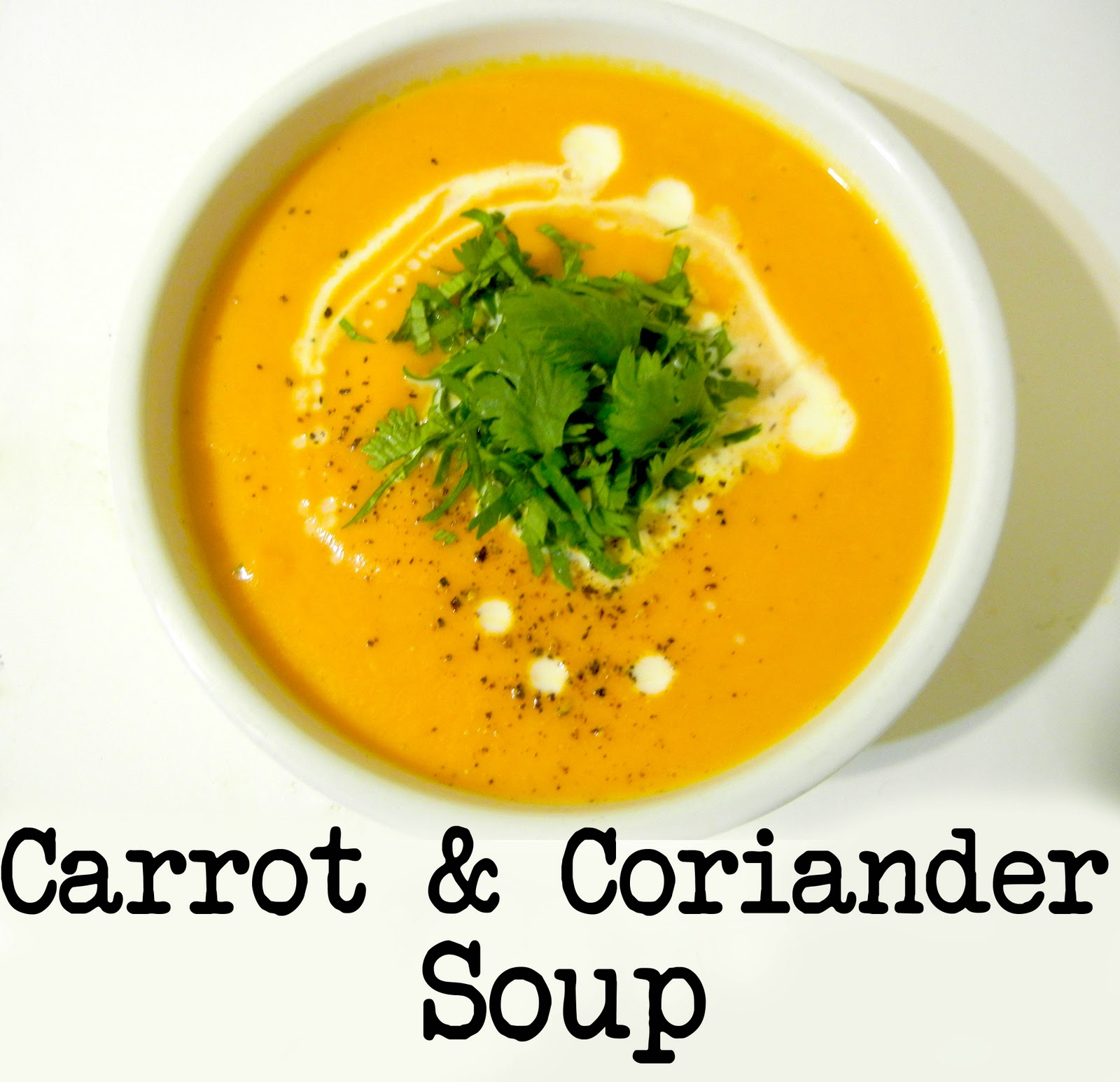 Derek's Kitchen: Carrot & Coriander Soup