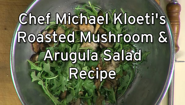 Roasted Mushroom Arugula Salad Hazelnuts Julia Child Recipe