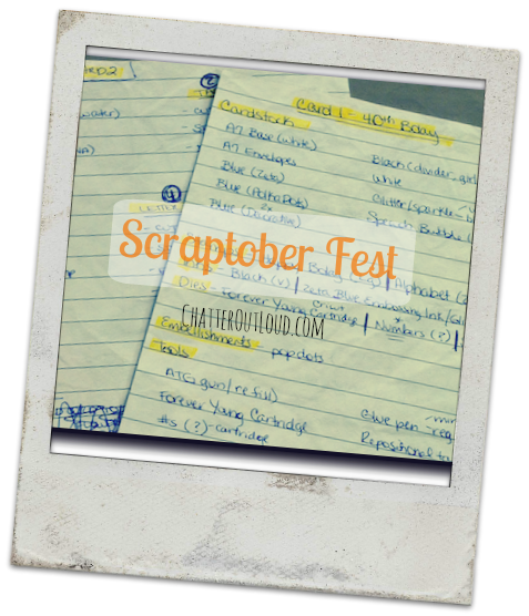 polaroid of scraptober