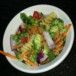 colorful pasta salad, packed with veggies, makes a wonderful side at ...