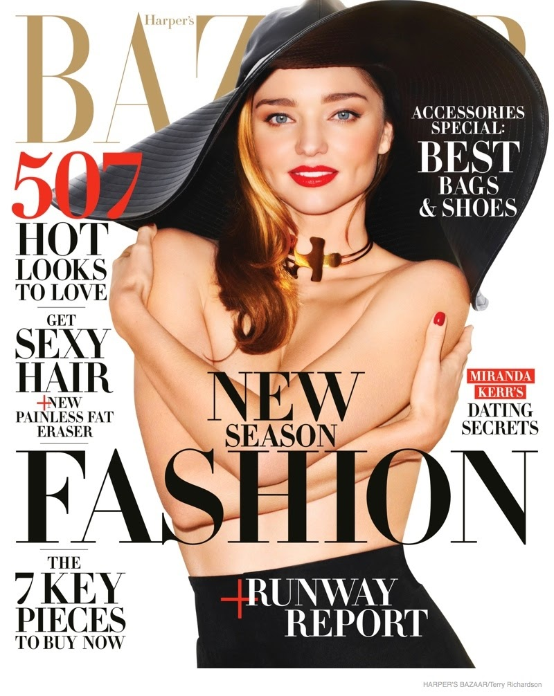 Miranda Kerr by Terry Richardson for Harper's Bazaar, USA, February 2015