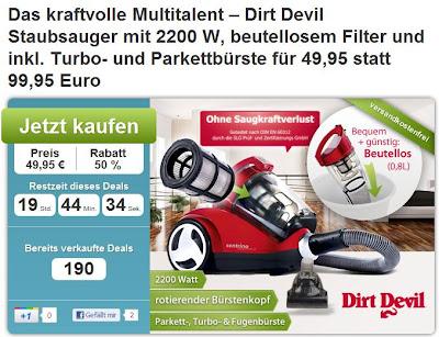 Staubsauger Dirt Devil Centrino Clean Control M 2013-1 bei DailyDeal für 49,95 Euro