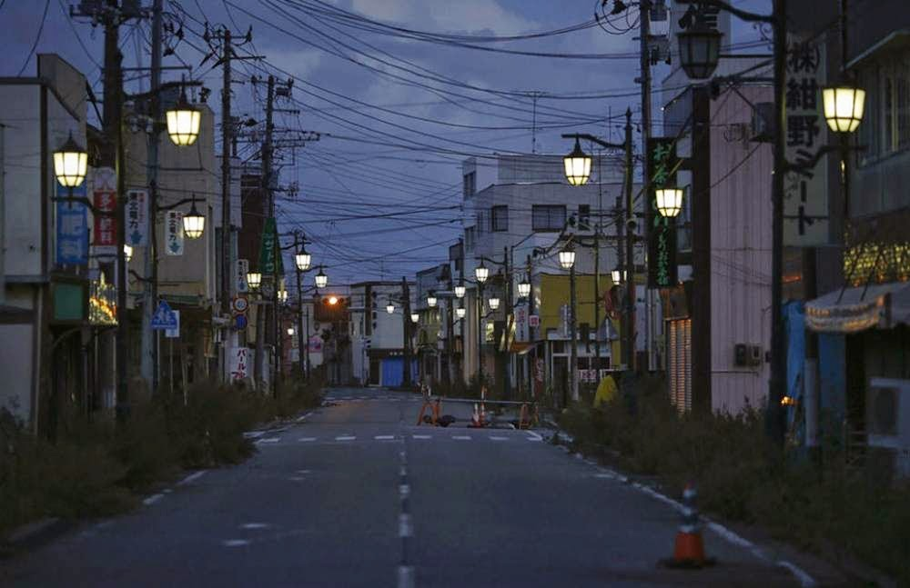 The exclusion zone after the accident in Fukushima, Japan