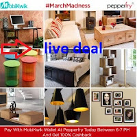 (Live Offer) Shop on Pepperfry From 6-9 PM & Get Extra 40% Cashback Via PayUmoney: Buytoearn