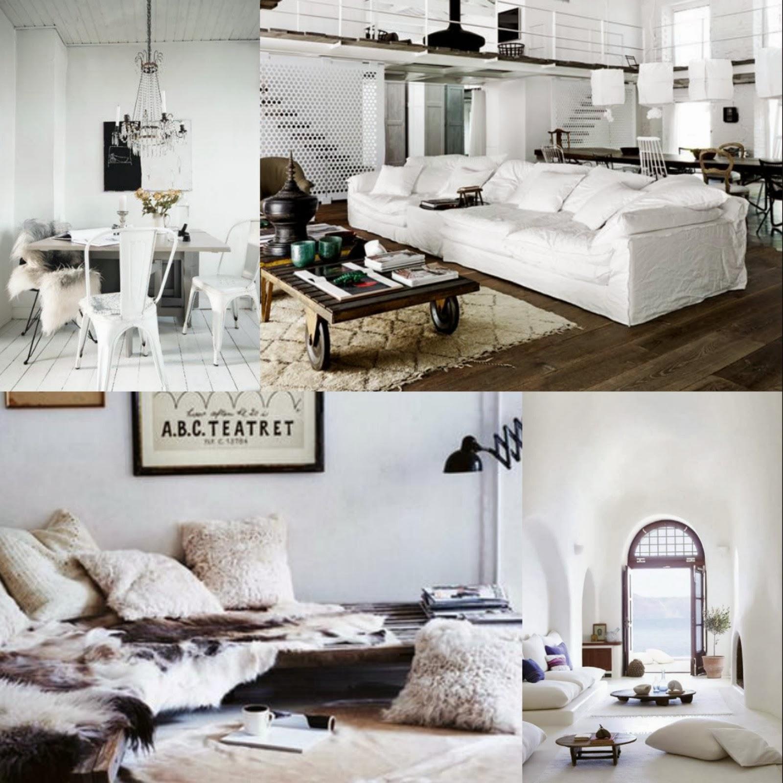 White decor, white interior style