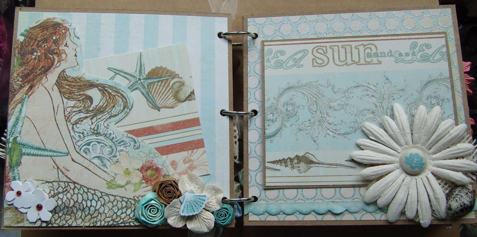 scrapn4mygirlz shabby chic beach chipboard album. Black Bedroom Furniture Sets. Home Design Ideas