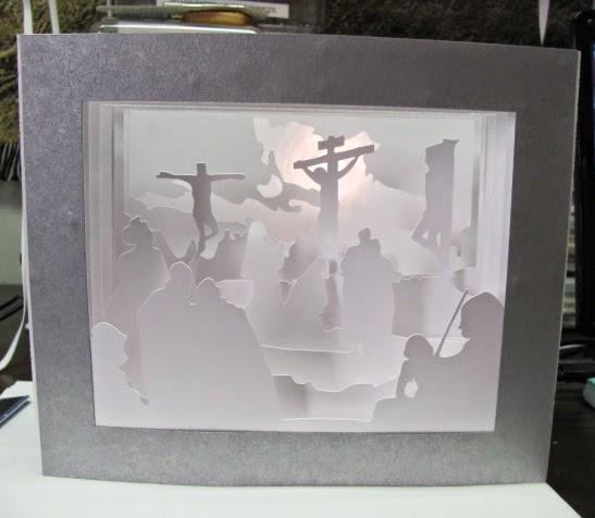 paper pulse blog spot paper cut light box art jesus on the cross. Black Bedroom Furniture Sets. Home Design Ideas