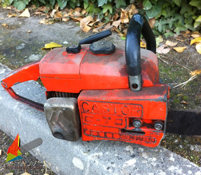 Motosierra Antigua Castor - Vintage/Old Castor Chainsaw