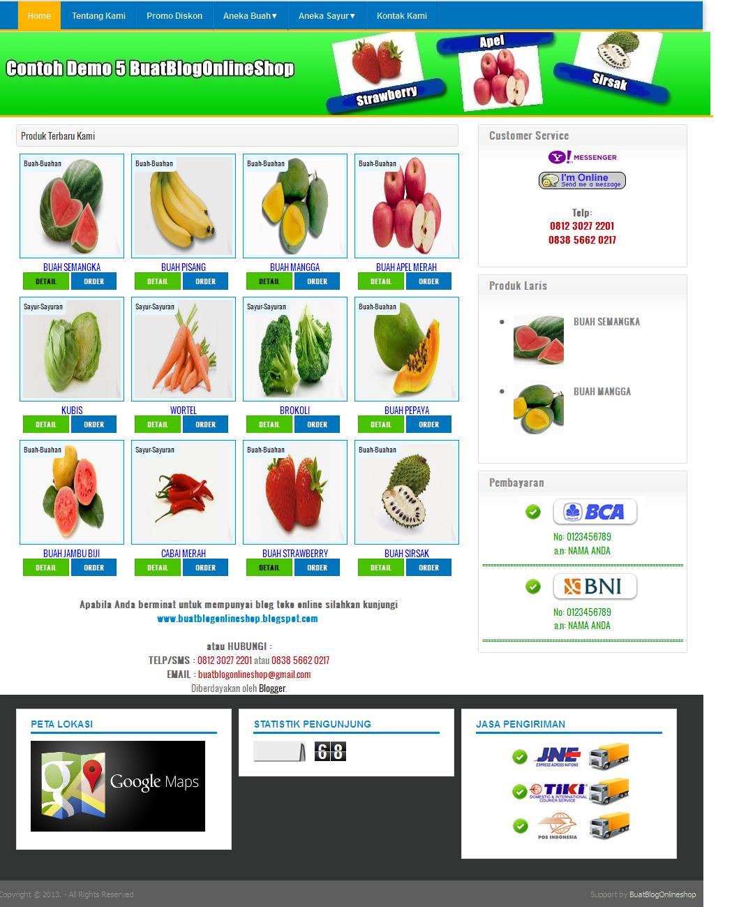 Buat Blog Online Shop: Paket Blog Toko Online