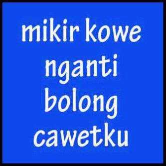 Kumpulan Gambar Kata Kata Lucu Bahasa Jawa Terbaru 2013