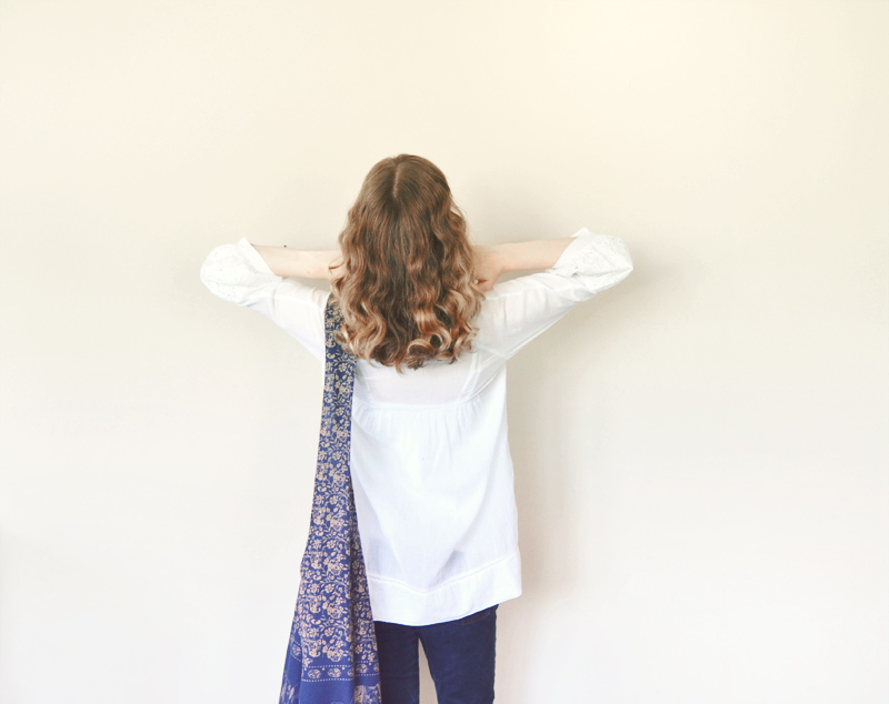 The Flying Clubhouse: fair trade white tunic blouse